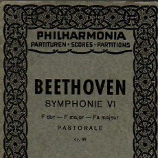 Partituras musicales: BEETHOVEN SYMPHONY VI PASTORALE PARTITURA COMPLETA FULL SCORE. Lote 27015071
