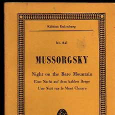 Partituras musicales: MUSSORGSKY NIGHT ON THE BARE MOUNTAIN PARTITURA COMPLETA FULL SCORE. Lote 23407298