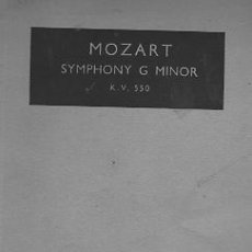 Partituras musicales: MOZART SYMPHONY G MINOR KV 550 PARTITURA COMPLETA FULL SCORE. Lote 23460930