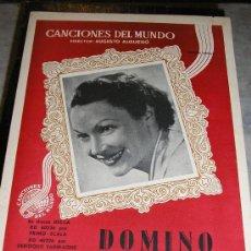 Partituras musicales: CANCIONES DEL MUNDO -AUGUSTO ALGERO **DOMINO - VALS**. Lote 22083376
