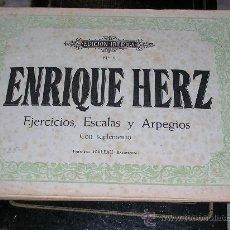 Partituras musicales: ENRIQUE HERZ - EJERCICIOS, ESCALAS Y ARPEGIOS. Lote 22083430