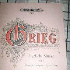 Partituras musicales: GRIEG - LYRISCHE STUCKE - HEFT X - OPUS 71 - EDITION PETERS - Nº 2982 - LIEPZIG - ALEMANIA. Lote 22334685