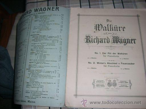 Partituras musicales: RICHARD WAGNER (Die Walküre y Wotan's Abschied & Feuerzauber) - p/ pianoforte - Schott's Söhne - Foto 2 - 22339914