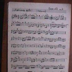 Partituras musicales: PARTITURA DE MAÑANA SALE, INDIVIDUALIZADA PARA INSTRUMENTOS. Lote 22380916