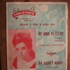Partituras musicales: PARTITURA DE HE AQUI EL TWIST Y DE AQUEL AMOR , INDIVIDUALIZADA PARA INSTRUMENTOS. Lote 22381643