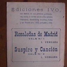 Partituras musicales: PARTITURA DE ROSALEDAS DE MADRID Y SUSPIRO Y CANCION, INDIVIDUALIZADA PARA INSTRUMENTOS. Lote 22382368