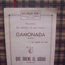 Partituras musicales: MAMBO / CHA CHA CHA - 1964 - ANGEL GARCIA RUIZ. Lote 22510146