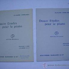 Partituras musicales: PARTITURA.CLAUDE DEBUSSY DOUZE ETUDES POUR LE PIANO.1 Y 2 LIBRO.ESTUDIOS 1 AL 12. Lote 22723712