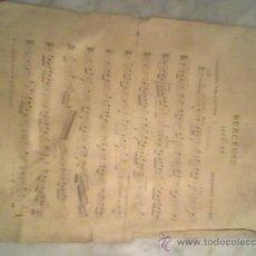 Partituras musicales: PARTITURA ANTIGUA SIGLO XIX BERCEUSE DE JOCELYN POR BENJAMIN GODARD. Lote 23855939