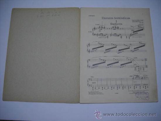 Partituras musicales: PARTITURA.JOAQUIN TURINA.DANZAS FANTASTICAS.Nº 1 EXALTACIÓN UNIÓN MUSICAL ESPAÑOLA.24X32,7P AÑO 1920 - Foto 2 - 23965305