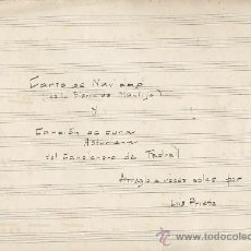 Partituras musicales: LOTE DE 5 ANTIGUAS PARTITURAS DE TEMA ASTURIANO. ASTURIAS. Lote 24898344