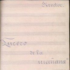 Partituras musicales: ANTIGUA PARTITURA MANUSCRITA. LUCERO DE LA MAÑANA, DEL RAMILLETE DE CANTOS CHARROS. Lote 24898554