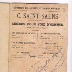 Partituras musicales: LOTE DE 2 PARTITURAS. Lote 24899061
