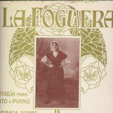 Partituras musicales: LA FOGUERA. FANTASÍA PARA CANTO Y PIANO INSPIRADA SOBRE MOTIVOS ASTURIANOS. ASTURIAS.. Lote 25379030