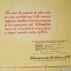 Partituras musicales: PUBLICITARIO BLANDIN ,JARABE Y COMPRIMIDOS ( PARTITURA ARIA DE LA SUITE EN RE , VIOLONCELO). Lote 25676440