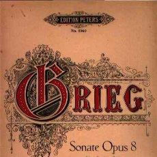Partituras musicales: SONATE OPUS 8 PARA VIOLÍN Y PIANO DE EDVARD GRIEG EDICIÓN PETERS. Lote 25902578