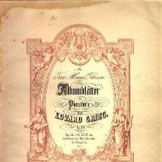 Partituras musicales: ALBUMBLATTER PARA PIANOFORTE DE EDVARD GRIEG OP. 28 EDICIÓN PETERS. Lote 25902942