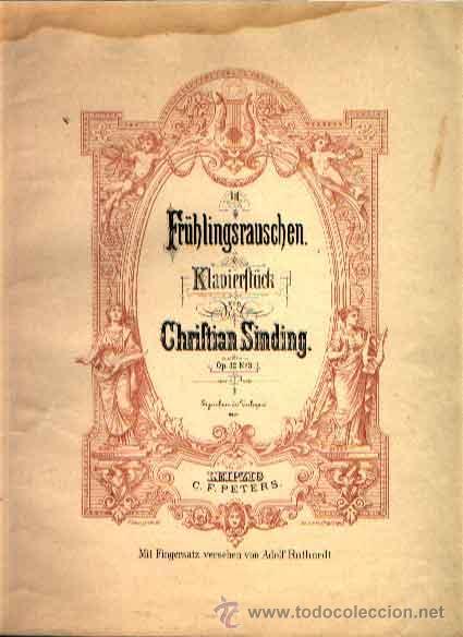 HOCHZEITSTAG AUF TROLDHAUGEN DE EDVARD GRIEG OP. 65 Nº 6 EDICIÓN PETERS (Música - Partituras Musicales Antiguas)
