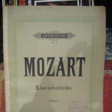Partituras musicales: LIBRETO DE PARTITURAS DE MOZART. KLAVIERSTUCKE.. Lote 25992717