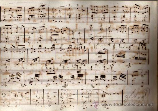 Partituras musicales: ANTIGUA PARTITURA MANUSCRITA - CAVALLERIA RUSTICANA - PRELUDIO Y SICILIANA - PIETRO MASCAGNI - Foto 3 - 26373609
