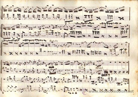 Partituras musicales: ANTIGUA PARTITURA MANUSCRITA - EL REY QUE RABIÓ - ACTOS 1º (FINAL) Y 2º - R. CHAPI - Foto 2 - 26373845