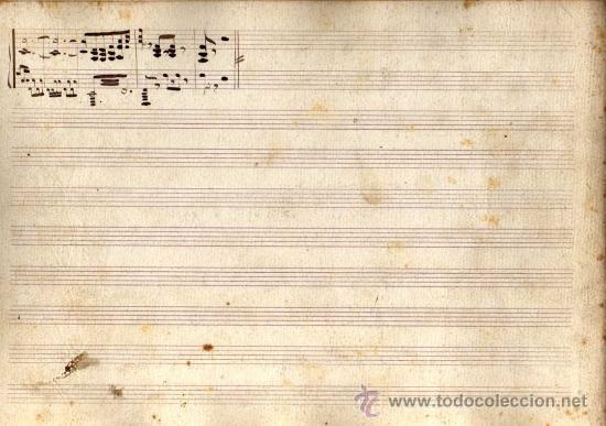 Partituras musicales: ANTIGUA PARTITURA MANUSCRITA - EL REY QUE RABIÓ - ACTOS 1º (FINAL) Y 2º - R. CHAPI - Foto 3 - 26373845