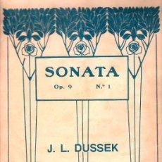 Partituras musicales: PARTITURA DE SONATA OP.9 Nº1 - DUSSEK. Lote 27657006