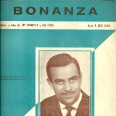 Partituras musicales: JOSE GUARDIOLA PARTITURA DE LA CANCION BONANZA. Lote 28079507