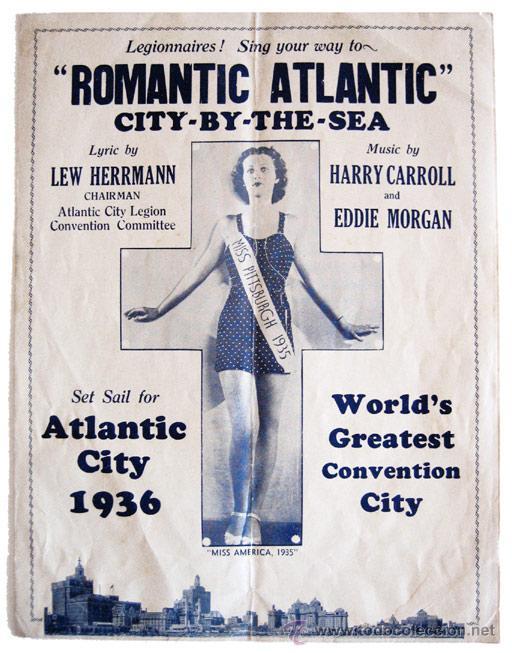 MARCHA ROMANTIC ATLANTIC, PARA LA CONVENCIÓN DE LA AMERICAN LEGION CELEBRADA EN ATLANTIC CITY - 1936 (Música - Partituras Musicales Antiguas)