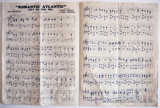 Partituras musicales: Marcha ROMANTIC ATLANTIC, para la convención de la American Legion celebrada en Atlantic City - 1936 - Foto 3 - 28462015