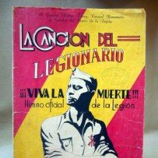 Partituras musicales: PARTITURA, LA CANCION DEL LEGIONARIO, VIVA LA MUERTE, UNION MUSICAL ESPAÑOLA. Lote 29033544