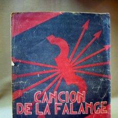 Partituras musicales: PARTITURA, CANCION DE LA FALANGE, CARA AL SOL. Lote 29033585