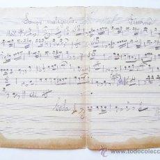 Partituras musicales - partitura manuscrita, sangre malageña, principios siglo XX - 29073374