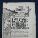 Partituras musicales: LOS TRES TAMBORS. CANÇÓ POPULAR CATALANA. . Lote 29384838