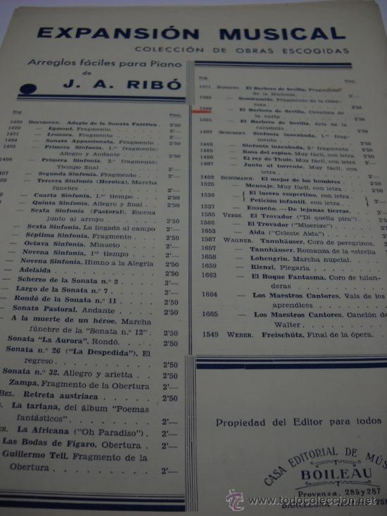 Partitura Para Piano Rossini El Barbero De Sevilla Cavatina De La Carta 3 Pags