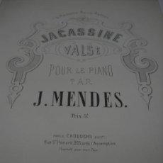 Partituras musicales: PARTITURA PARA PIANO. J. MENDES: JACASSINE. VALSE. EDI. CHOUDENS, 7 PAGS. Lote 29917034