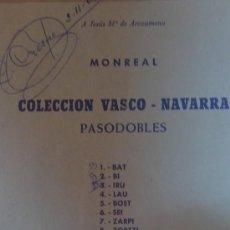 Partituras musicales: &COLECCION VASCO NAVARRA.(PASODOBLES).EDITOR;MONREAL-AÑO1969/.(SIETE INSTRUMENTOS DISTINTOS). Lote 30155446