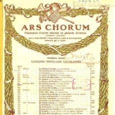 Partituras musicales: ARS CHORUM - CANÇONS POPULARS CATALANES. EL DIMONI ESCUAT (IBERIA MUSICAL). Lote 30214447