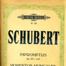 Partituras musicales: SCHUBERT : IMPROMPTUS / MOMENTOS MUSICALES (BOILEAU) . Lote 30214694
