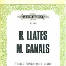 Partituras musicales: LLATES Y CANALS : PIEZAS FÁCILES PARA PIANOS A CUATRO MANOS (BOILEAU) . Lote 39411758