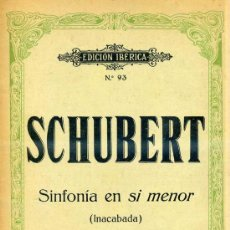 Partituras musicales: SCHUBERT : SINFONÍA EN SI MENOR - INACABADA (BOILEAU) . Lote 30214996