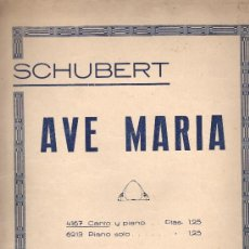 Partituras musicales: PARTITURA SCHUBERT AVE MARIA CANTO Y PINO PIANO SOLO. Lote 30334093