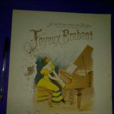 Partituras musicales: PARTITURA: JOYEUX BRABANT. VALSE BRILLANTE POUR PIANO.... Lote 30745324