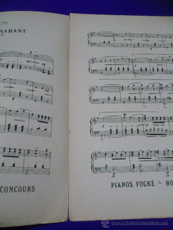 Partituras musicales: PARTITURA: JOYEUX BRABANT. VALSE BRILLANTE POUR PIANO... - Foto 3 - 30745324