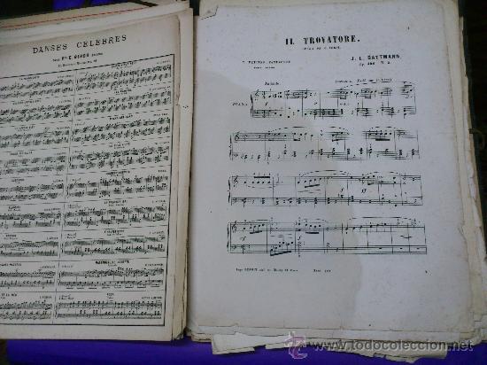 Partituras musicales: PARTITURAS. LOTE CARTAPACIO+PARTITURAS. MUSIQUE. VER... - Foto 6 - 30750225