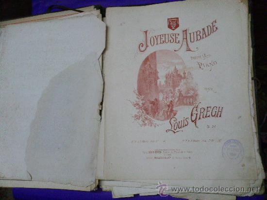 Partituras musicales: PARTITURAS. LOTE CARTAPACIO+PARTITURAS. MUSIQUE. VER... - Foto 7 - 30750225