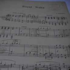 Partituras musicales: PARTITURA. C. WORSLEY: ROYAL WALTZ. EDI. ALESSIO BOILEAU. 1906. 8 PAGS. SIN CUBIERTA.. Lote 30757562