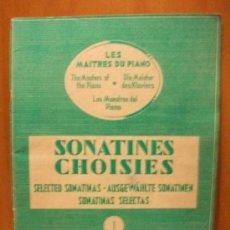 Partituras musicales: ANTIGUA PARTITURA SONATINES CHOISIES - A.FERTÉ - AÑO 1948 - EXCELENTE CONDICIÓN. Lote 30929745