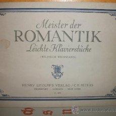 Partituras musicales: PARTITURA MEISTER DER ROMANTIK (WEISMANN) AÑO 1948 - EXCELENTE CONDICIÓN -. Lote 30929757