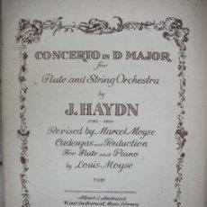 Partituras musicales: PART. CONCERTO PARA FLAUTA Y O DE CUERDAS DE HAYDN - AÑO 1951 -. Lote 30938767